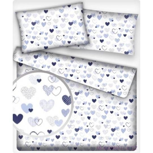 Tkanina bawełniana wzór niebieskie serca