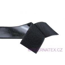 Taśma rzep z klejem (komplet) - Czarna 100 mm