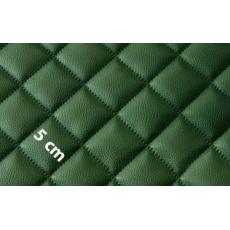 Eko Skóra Pikowana w kolorze zielonym