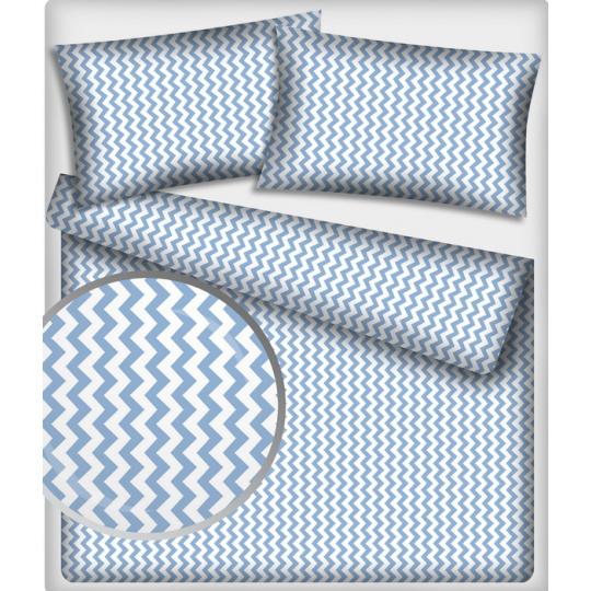 Tkanina bawełniana wzór niebiesko-białe zygzaki