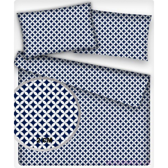 Tkanina bawełniana Mini Maroko niebieska 2cm
