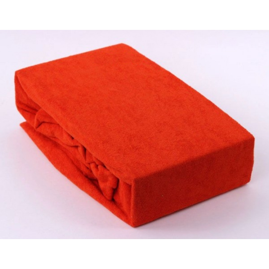 Prześcieradło frotte EXCLUSIVE z gumką 160x200 - Pomarańczowy