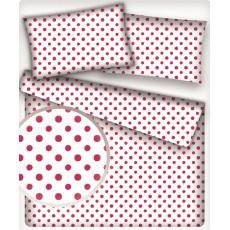 Tkanina bawełniana białe groszki 3 mm na białym tle