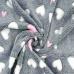Minky Baranek wzór Serca różowo biały na szarym tle