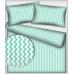 Tkanina bawełniana wzór miętowo-białe zygzaki