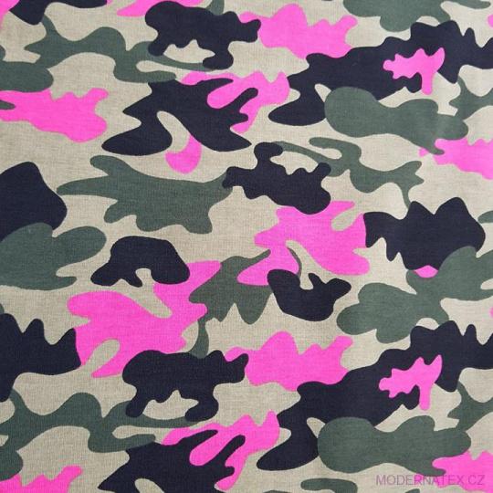 Tkanina bawełniana wzór Moro różowa