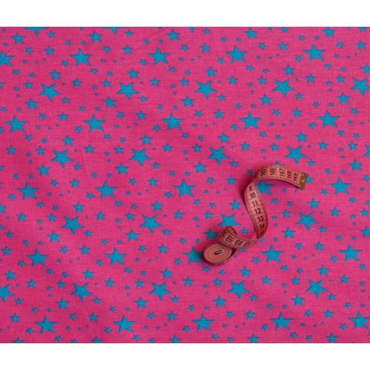 Tkanina bawełniana wzór niebieskie gwiazdki VTE 1556-1