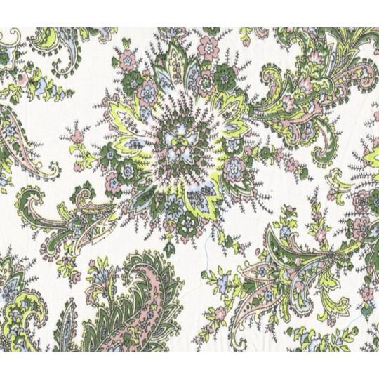 Tkanina bawełniana dekoracyjna wzór biały Kaszmir