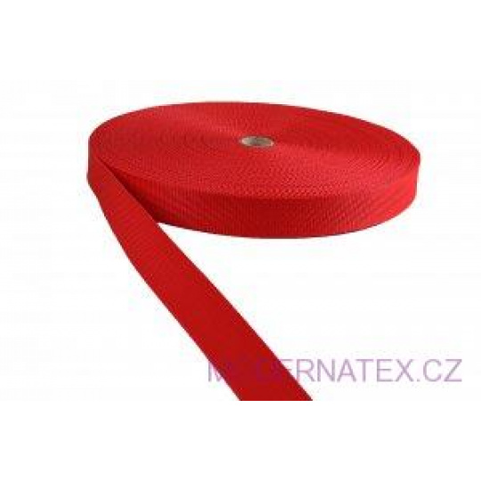 Pas polipropylenowy 30 mm - czerwony