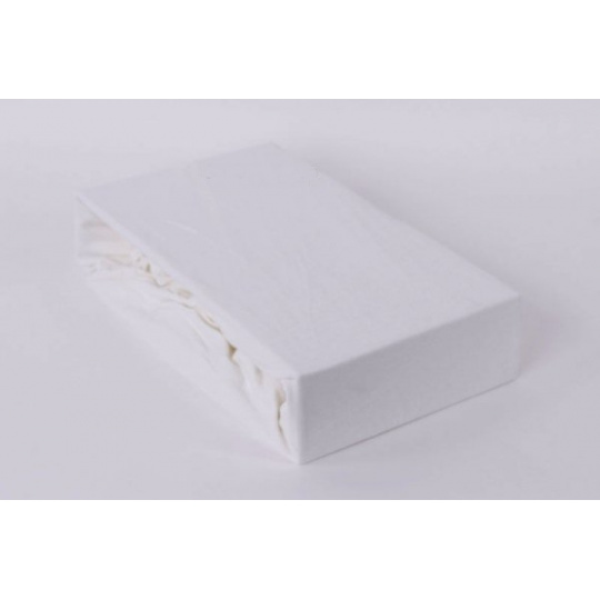 Jersey prostěradlo jednolůžko Exclusive - bílá 90x200 cm varianta bílá