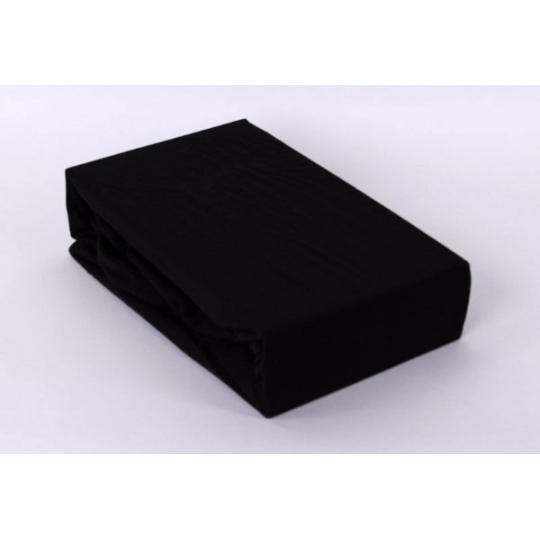 Jersey prostěradlo Exclusive - černá 140x200 cm > varianta černá