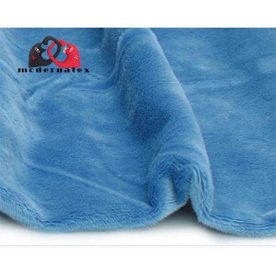 Minky kolor jednokolorowy niebieski