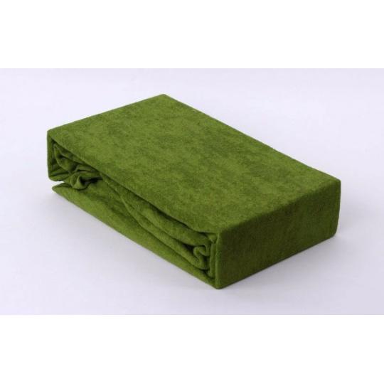 Prześcieradło frotte EXCLUSIVE z gumką 180x200 - Zielony
