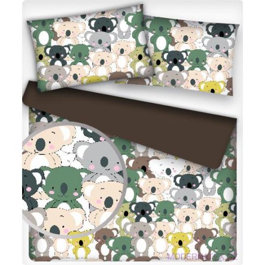 Tkanina bawełniana wzór kolorowe pandy