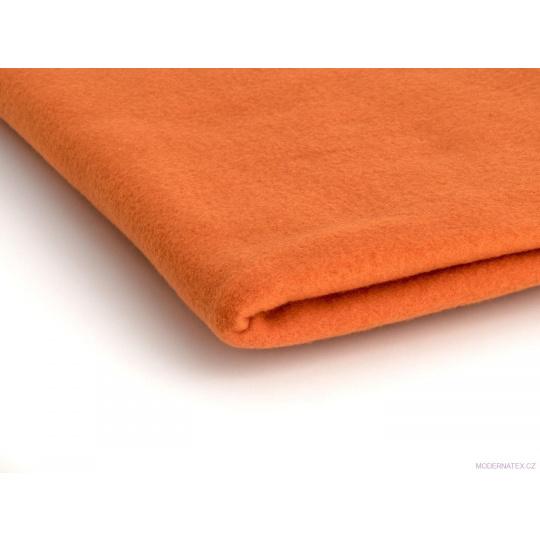 Tkanina Microfleece w kolorze pomarańczowym