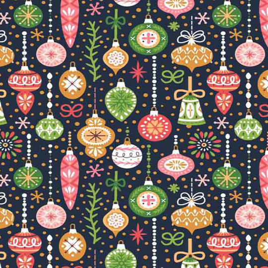 Tkanina bawełniana wzór Dekoracje Świąteczne