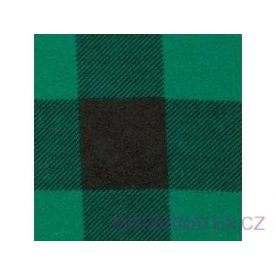 Tkanina flanelа czarno-zielona 4x4 kratkа