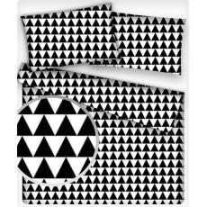 Tkanina bawełniana wzór Czarne Geo Trójkąty