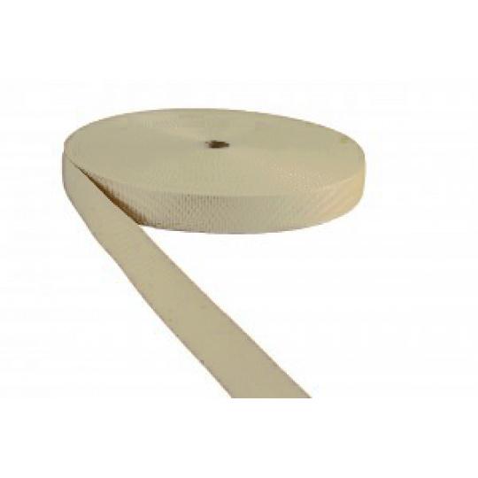 Pas polipropylenowy 25 mm - ecru
