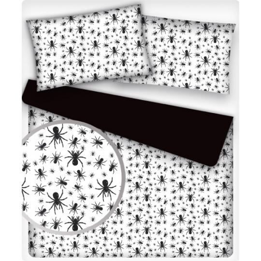 Tkanina bawełniana wzór pająka na białym tle