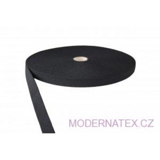 Gumka odzieżowa, szer. 25 mm - Czarna, 25 m