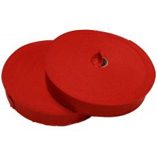 Lamówka poliestrowa czerwona, 30mm