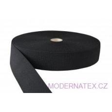 Gumka odzieżowa, szer. 50 mm - Czarna, 25 m