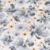 Tkanina bawełniana wzór bukiety kwiatowe szaro-beżowe