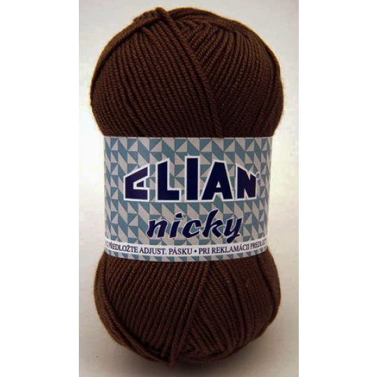 Włóczka Elian Nicky 1182 kolor brązowy