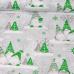 Tkanina bawełniana świąteczna Skrzaty zielone