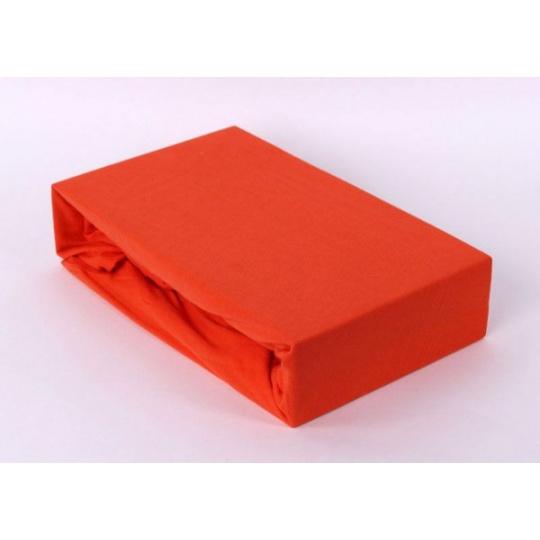 Prześcieradło jersey EXCLUSIVE z gumką 140x200 - Pomarańczowy