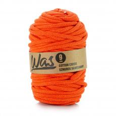 Sznurek bawełniany 9mm, 50m Pomarańczowy