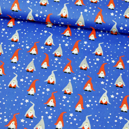 Tkanina bawełniana wzór wesołe krasnale
