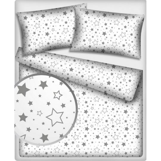Tkanina bawełniana Galaktyka szara na białym tle