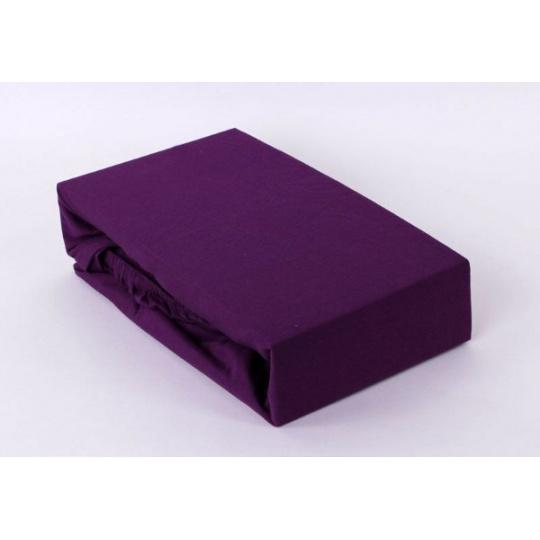 Jersey prostěradlo Exclusive - fialová 160x200 cm varianta fialová