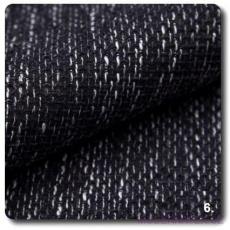 Tkanina obiciowa NEVADA w kolorze czarno - białym