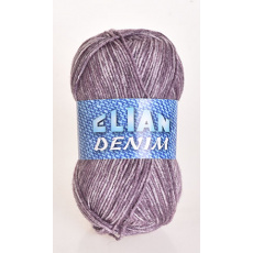 Włóczka Elian Denim 675 kolor fioletowy