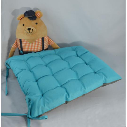 Poduszka siedziska w kolorze turkusowym, 38x38x4 cm