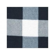 Tkanina flanelowa czarno-biała 4x4 kratkа