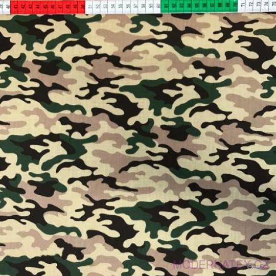 Tkanina bawełniana wzór Moro zielona