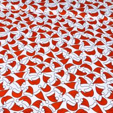Tkanina bawełniana wzór Czapka Świętego Mikołaja
