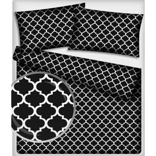 Tkanina Bawełniana wzór Maroko w kolorze czarnym