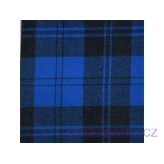 Tkanina flanela czarno-niebieska 8x8 kratka