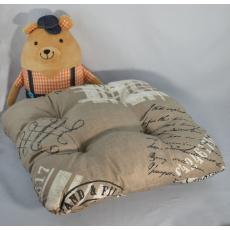 Poduszka siedziska w kolorze beżowym 38x38x4 cm