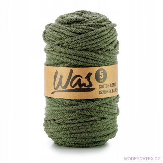 Sznurek bawełniany 5mm, 100m Khaki