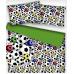 Tkanina bawełniana wzór piłki nożnej na białym tle