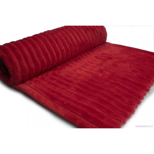 Minky paski kolor czerwony