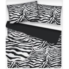 Minky wzór czarna Zebra