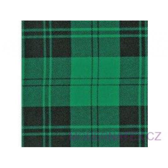 Tkanina flanela czarno-zielona 8x8 kratka