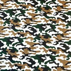 Tkanina bawełniana wzór moro brązowo zielony